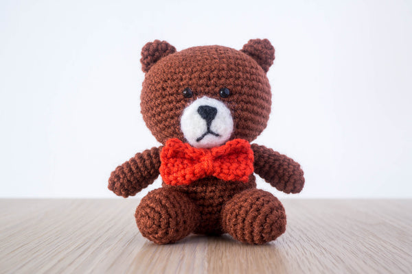 tiny rabbit hole - crochet knit mr brown from line amigurumi crochet pattern