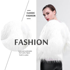 FAUX FUR COAT WITH LED - Perfect for Winter Parties, Club-Hopping and Lighting Up Your World!
