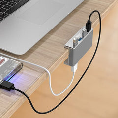USB 3.0 Hub, 4 Port USB3.0 Clip-Type Aluminum - The Gadget Junkie