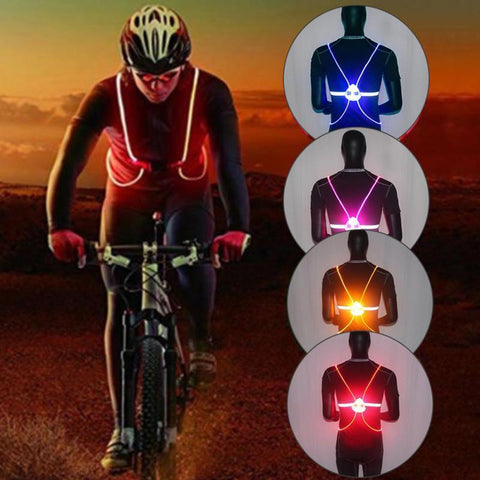 Flashing LED Vest - Be Safe At Night - For Walking, Biking, Motorcycling, Nightime Outdoor Activities - The Gadget Junkie