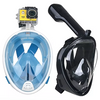 Image of Full Face Snorkel Mask w/Optional HD Sports Camera - Swim, Snorkel and Skin Dive -- And Record Every Minute!