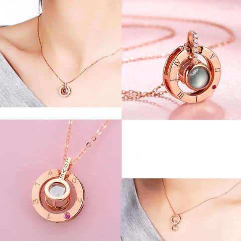Memory of Love Necklace in Rose Gold or Silver - Keep Love Alive!