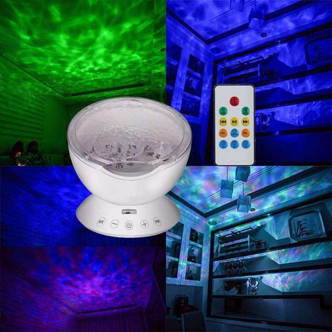 Ocean Wave Musical LED Night Light Projector - For Kids Up to 90! - The Gadget Junkie