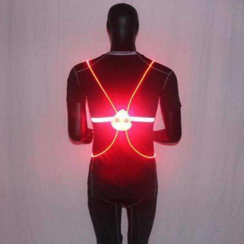 Flashing LED Vest - Be Safe At Night - For Walking, Biking, Motorcycling, Nightime Outdoor Activities