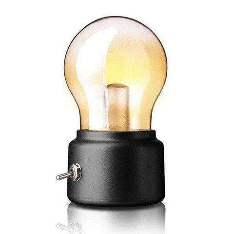 Vintage LED Lamp/Nightlight - Portable, USB Rechargeable, Economical, Retro! - The Gadget Junkie