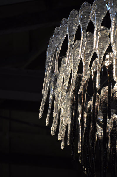 Black Ice Chandelier by Crystal Chain Gang