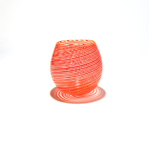 Candy Cane Tumbler by NZ Glassworks