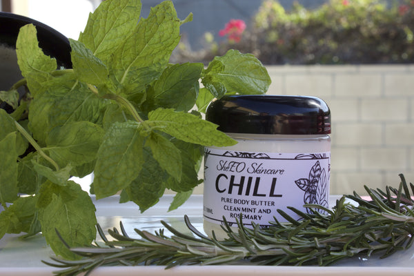 Pure Body Butter: Chill ~ Clean Mint and Rosemary