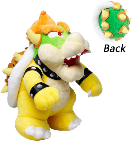 Bowser Plush Doll, 10 Inch Yellow Super Mario Bros. Plush , Boy Girl Birthday Christmas New Year Gift Plush Doll (Yellow)