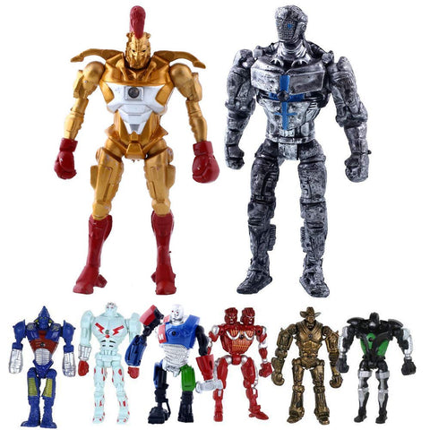 "Hot Sell Real Steel 8pcs/set Toys 5"" PVC Action Figure Atom Midas Ambush Metro Noisey Iron Boy Zeus Collectible Robots Toys, Ideal Gift"