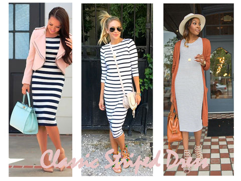 Classic Striped Dress | How to Style | Lushington Jackets