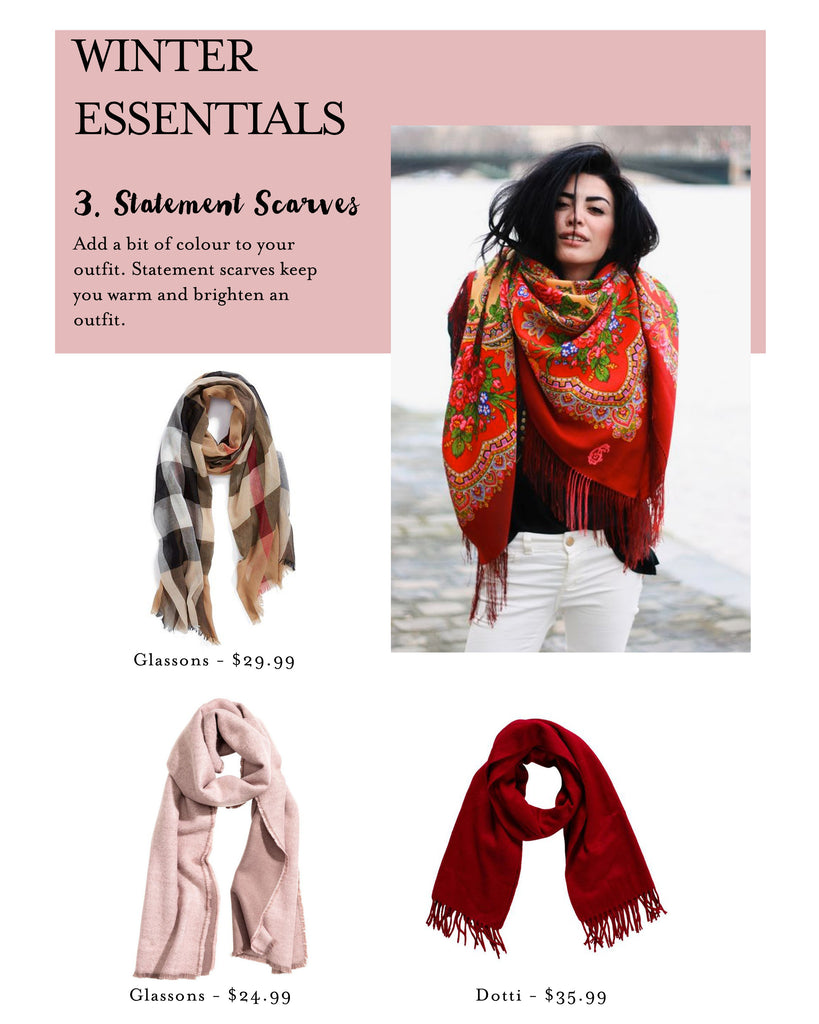 Lushington Jackets, Statement Scarves, Winter Essentials