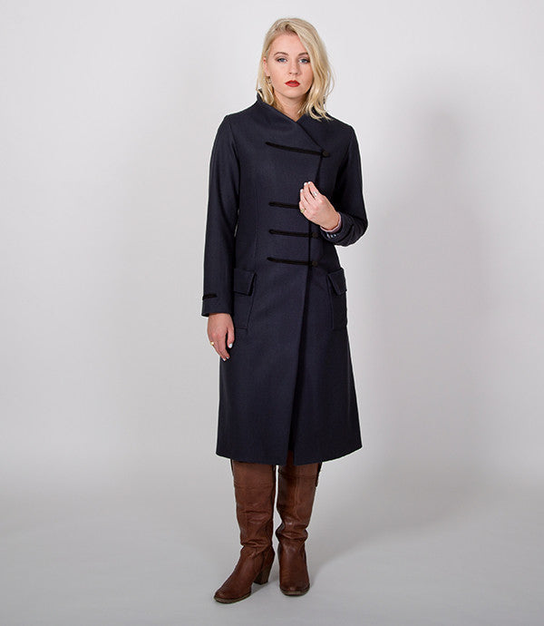 Long Winter Womens Coat in Steel Grey | Lushington Jacket | Stanton Jacket