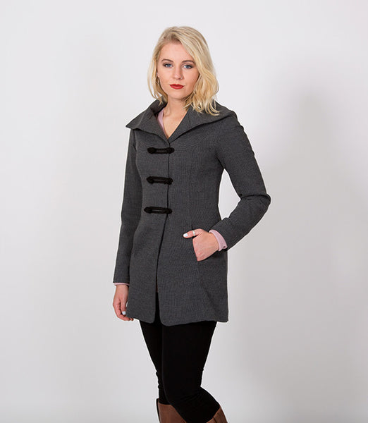 Grey and Black Houndstooth Women Jacket | Lushington Jackets | Arthur Jacket
