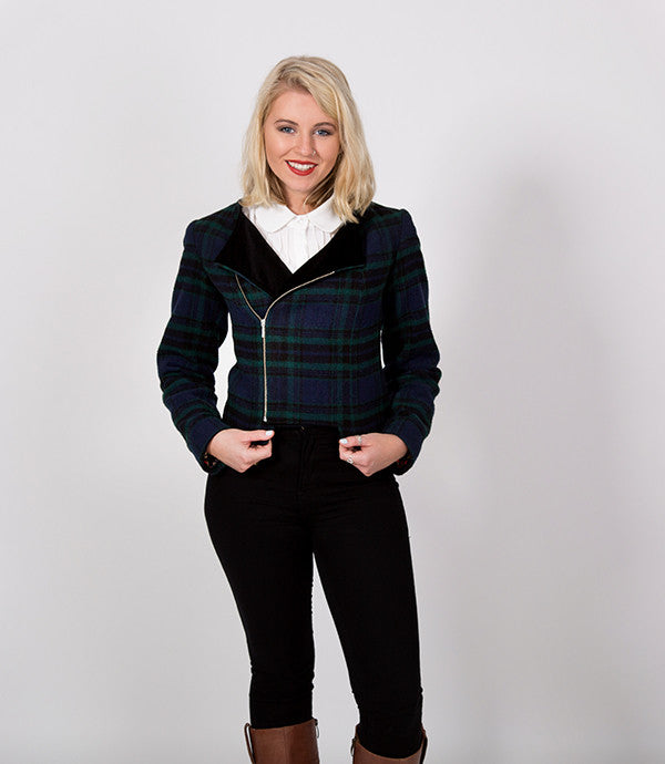 Green Plaid Womens Jacket | Prince Harry approved of this jacket | Lushington Jackets