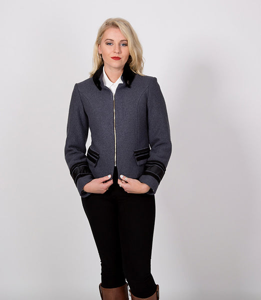 Short grey womens winter jacket | Lushington Jackets | Ernst Jacket