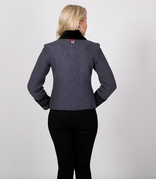 Back detail, short greay and black jacket | Ernst yah glad you clicked on this one? | Lushington Jackets