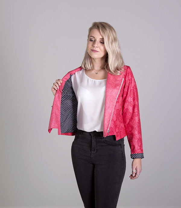 Short Summer Womens Jacket in Red - Lushington Jackets
