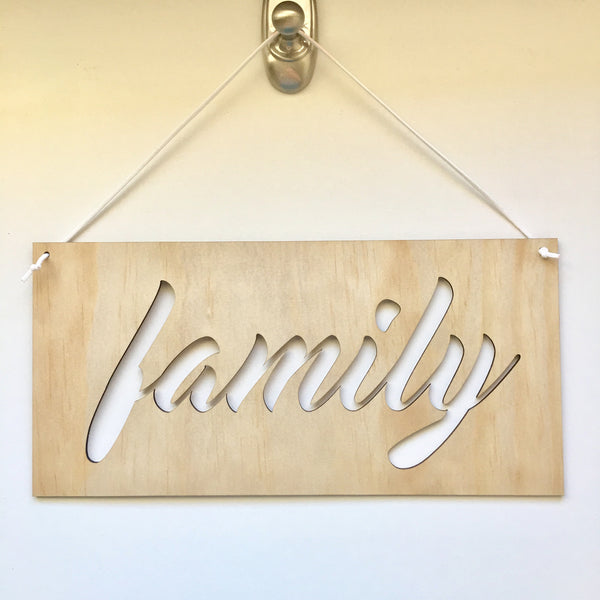 Word Plaque || Family || Large