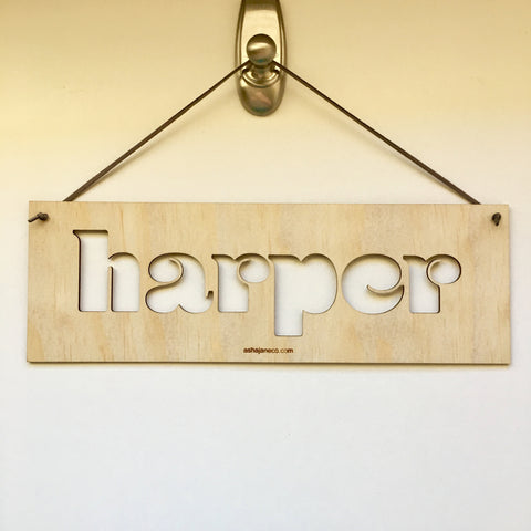 Custom Name Plaque || Large