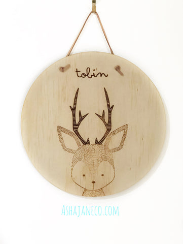 So Wild || Customised Plaque || Deer