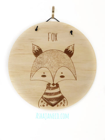 So Wild || Customised Plaque || Fox