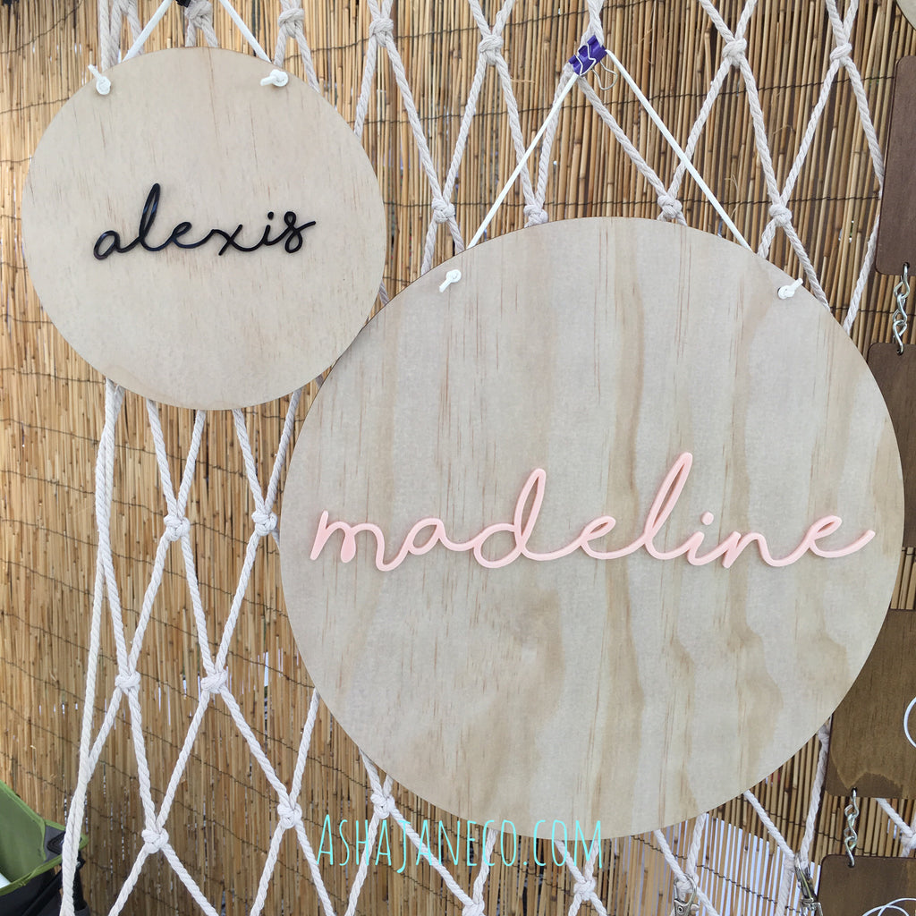 Acrylic & Wood Plaque || Words