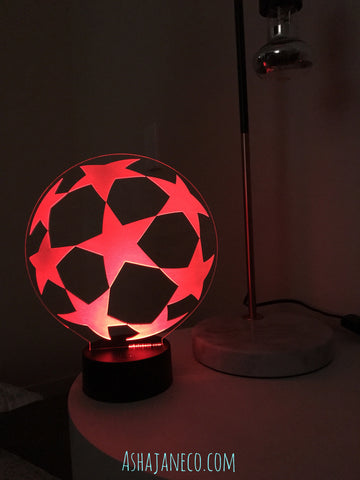 LED & Acrylic Night Light || UCL Football