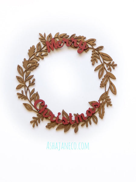 Merry Christmas || Wreath || 2 sizes