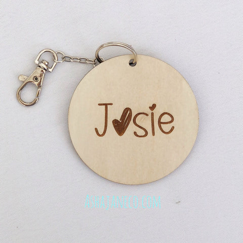 Bag Tag || Engraved Names