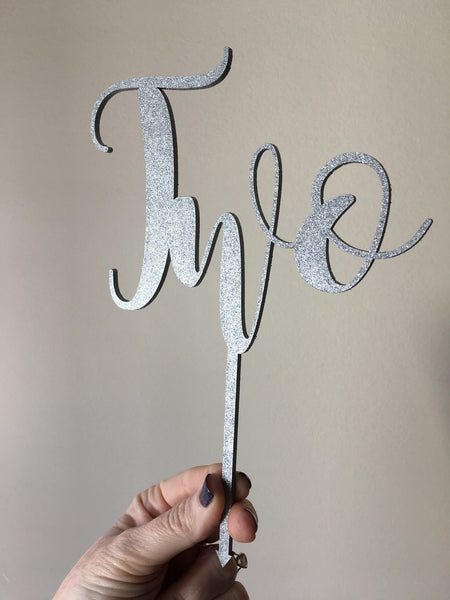 Cake Topper || Number Words