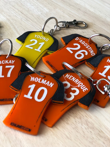 Key Tag || Football Jersey || Brisbane Roar