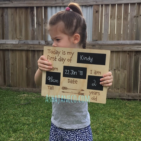 Chalkboard || My First Day || Wood ||