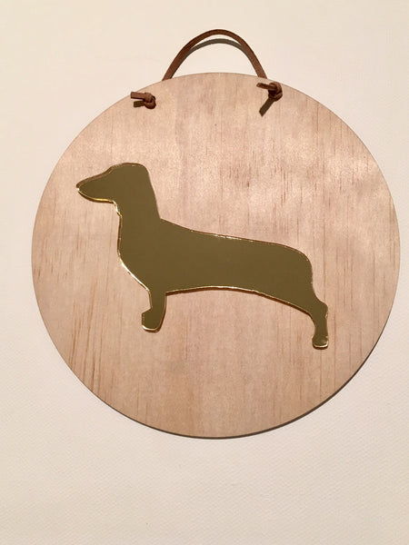 Asha Jane & Co Acrylic & Wood Layered Plaque Animals Dachshund