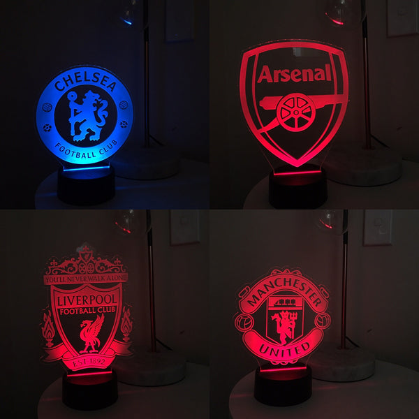 LED Acrylic Night Light || Football Clubs