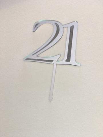 Cake Topper || 21 || Style #1