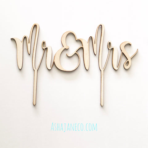 Cake Topper || Mr & Mrs