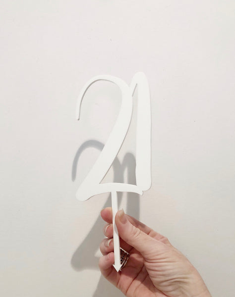 Cake Topper || 21 || Style #2