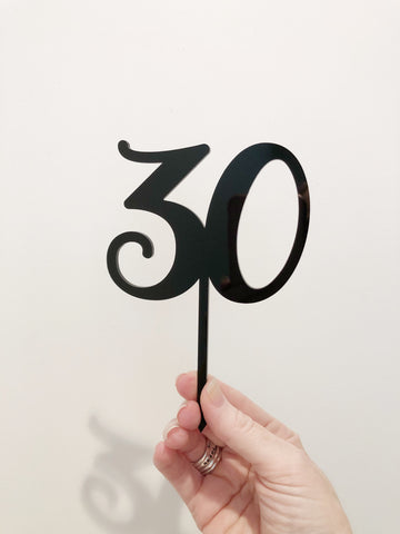 Cake Topper || 30 || Style #1