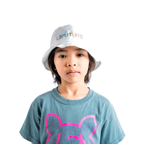 LeFuture | White - Kids Bucket Hat