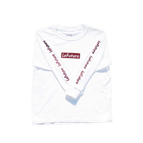 LeFuture Sport | White - Kids Long Sleeve Tee