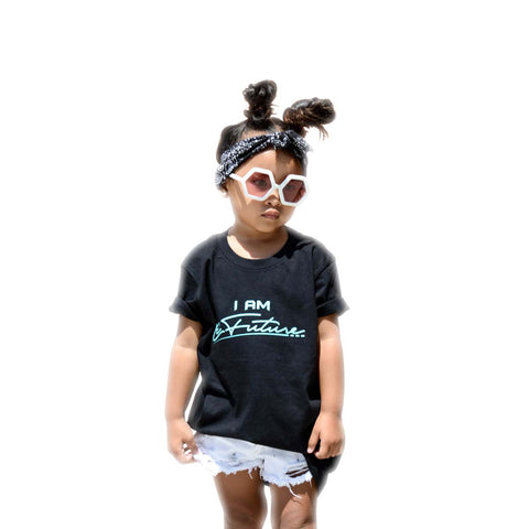 I Am LeFuture | Black - Kids Short Sleeve Tee