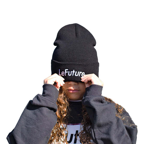 LeFuture Sport | Black - Kids Beanie