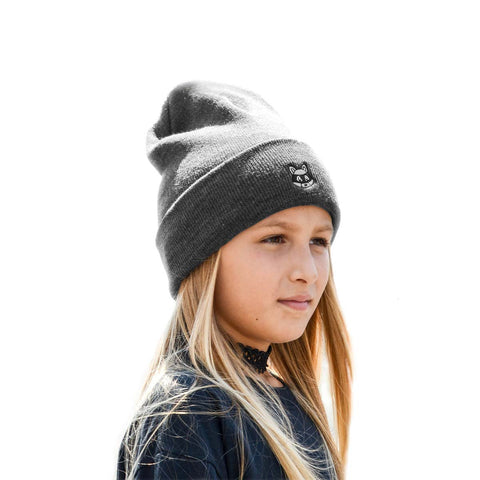 Le Future - Rooty Raccoon | Charcoal - Kids Beanie