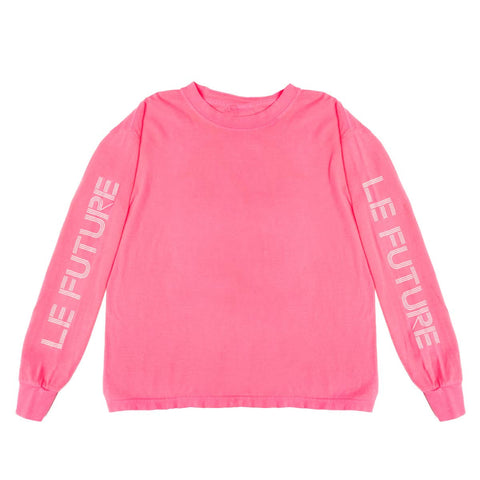 Le Future | Neon Pink - Kids Long Sleeve Tee