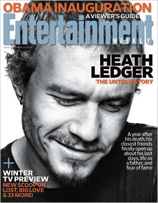 Heath Ledger Entertainment Weekly Magazine Collector January 2009