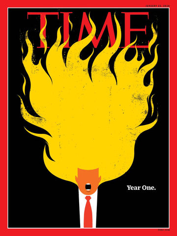 TIME MAGAZINE: TRUMP YEAR ONE ISSUE MAGAZINE JANUARY 2018