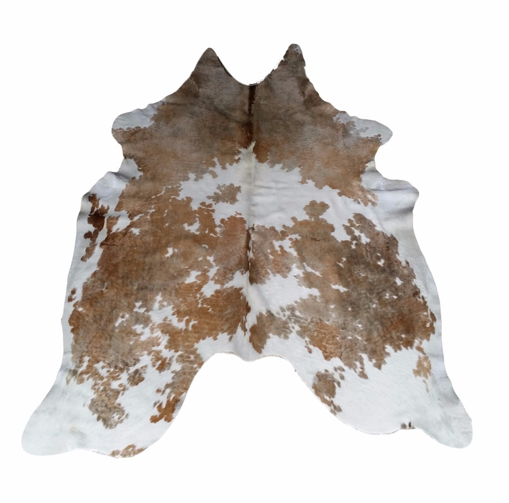 Brown & White, Light Premium Brazilian Hide, XL CH15N R