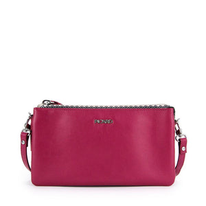 Amber Triple Compartment Leather Clutch