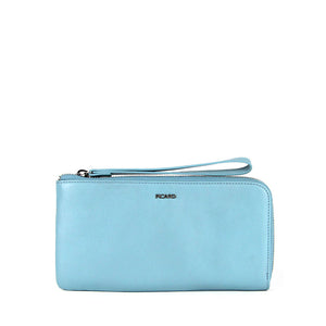 Aurora Zip Down Long Leather Wristlet